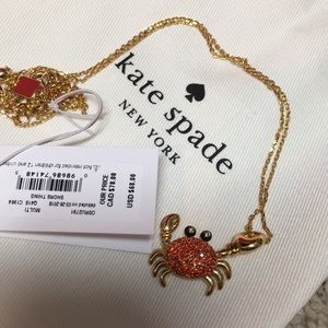 NWT - Kate spade lobster whimsy necklace